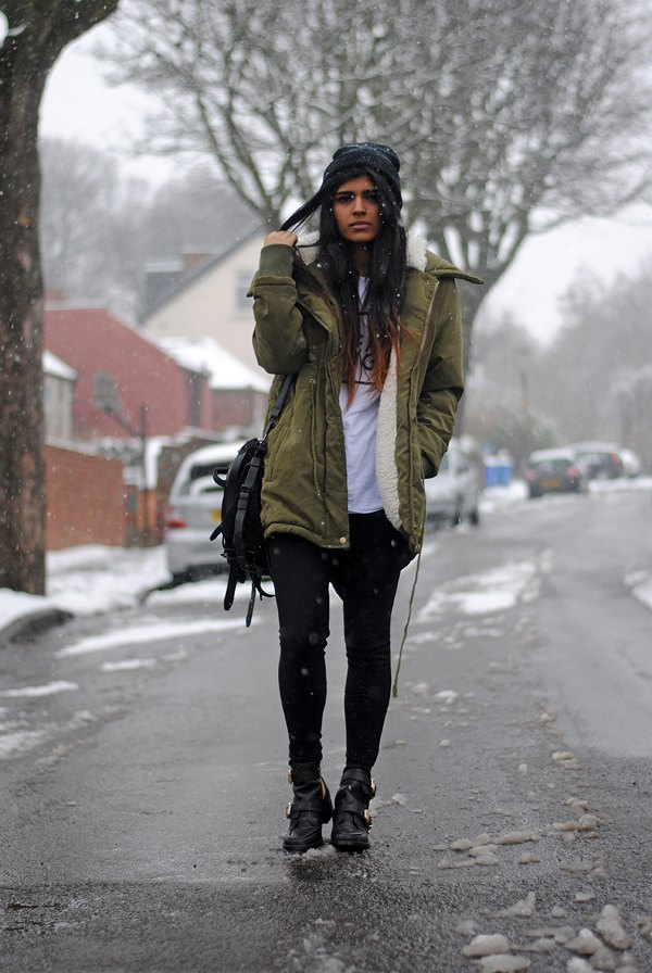 best fur lined parka coat outfit ideas