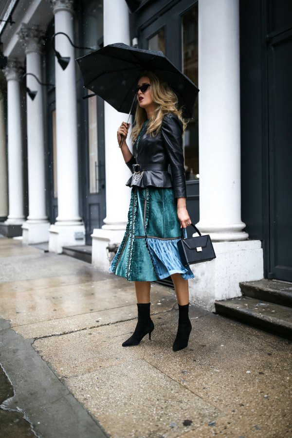 best peplum leather jacket outfit ideas for women