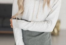 best cowl neck hoodie outfit ideas for women