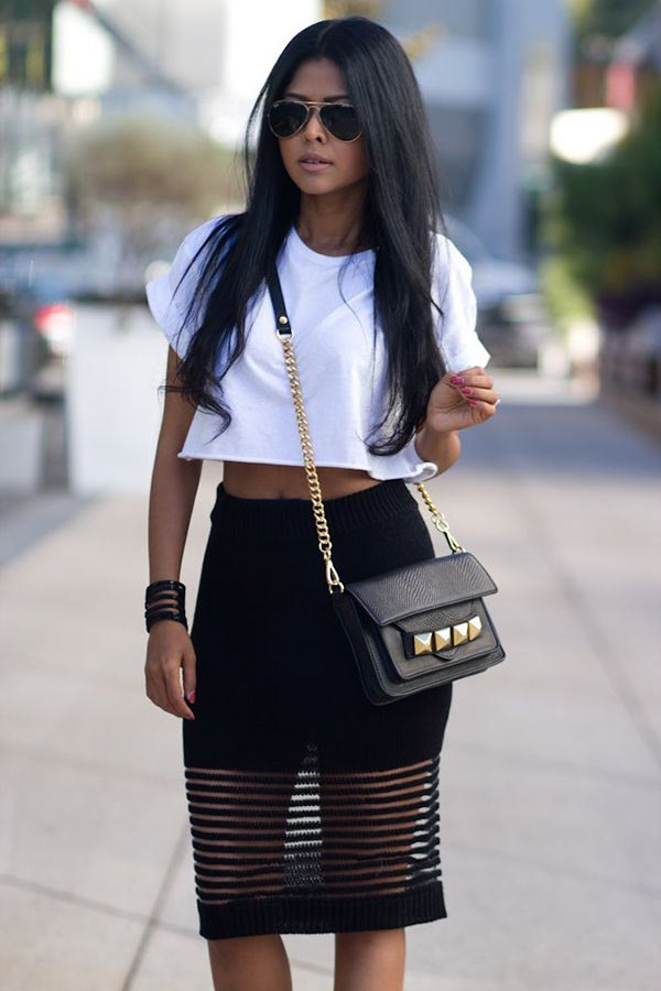 best mesh skirt outfit ideas