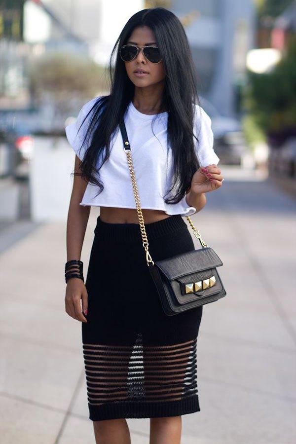 best mesh skirt outfit ideas