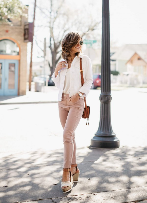 best pink jeans outfit ideas