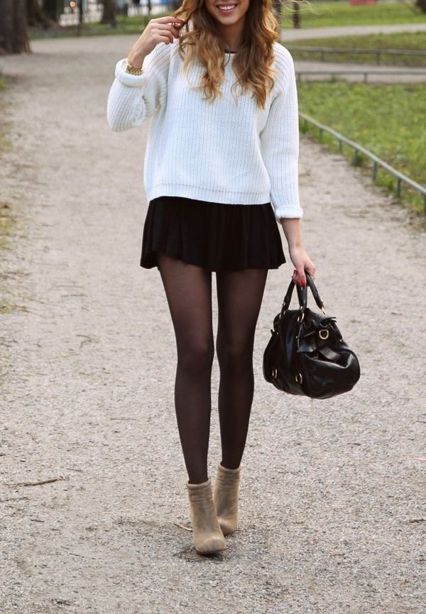 best pleated mini skirt outfit ideas