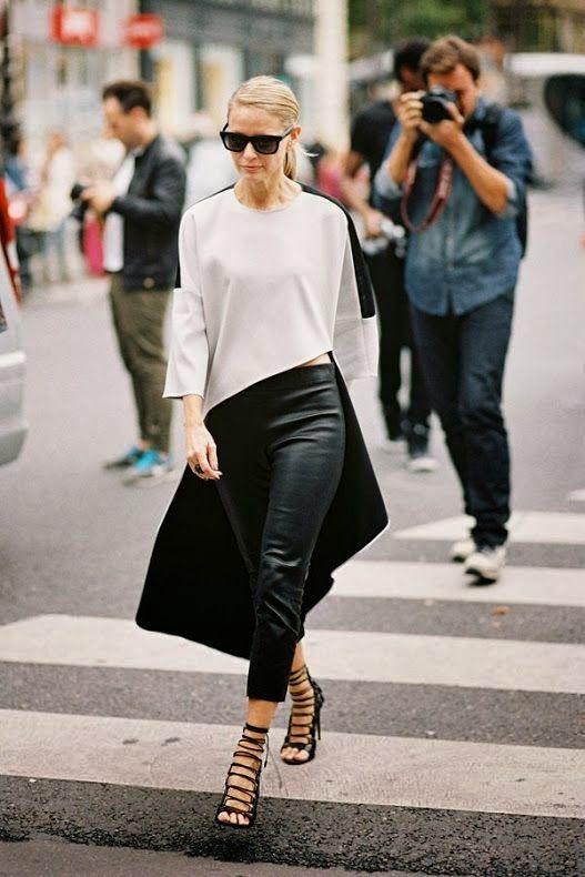 black lace up heels asymmetric