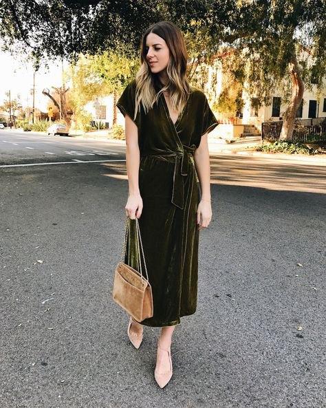 burgundy maxi tied waist short sleeve velvet wrap dress