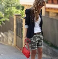 cuffed shorts with black blazer