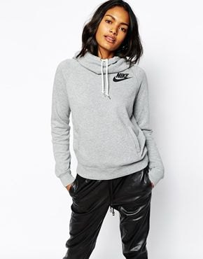 grey hoodie with black leather pants
