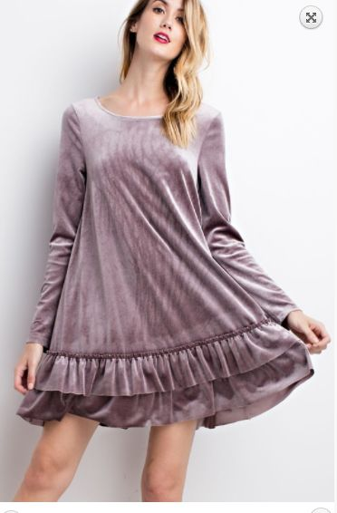 velvet tunic lilac