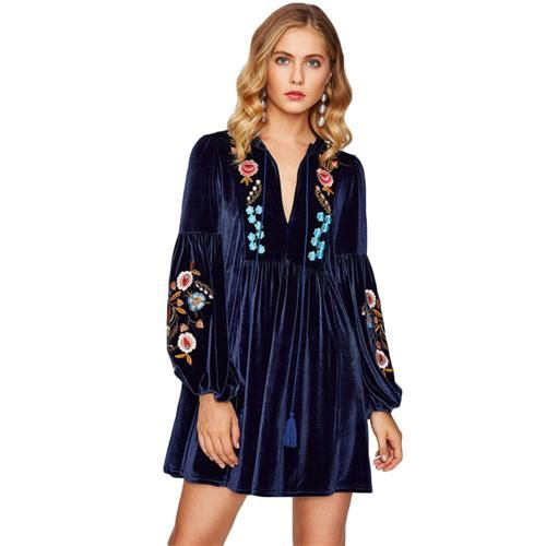 velvet tunic royal blue