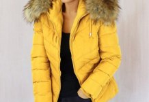 best yellow puffer jacket outfit ideas for ladies