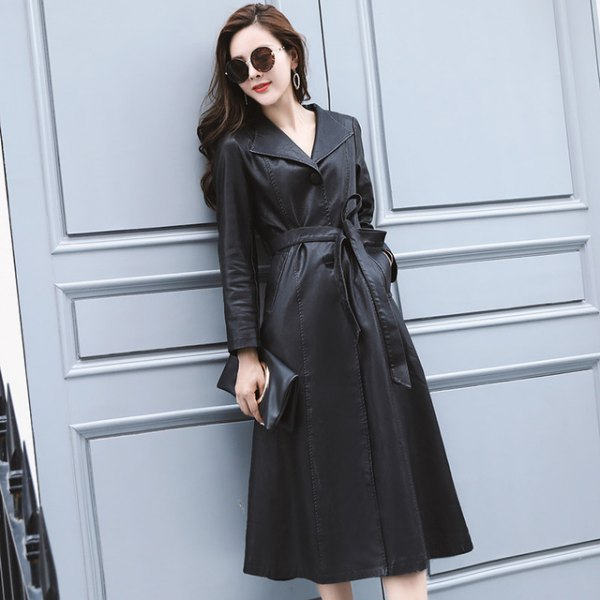 black belted trench coat dress with ankle boots