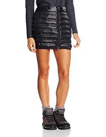 black down skirt with dark grey long sleeve tee