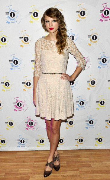 half sleeve semi sheer belted mini pleated cream dress