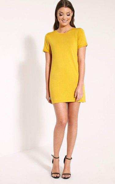 How To Wear Yellow T Shirt Dress 15 Cheerful Outfit Ideas Fmag Com