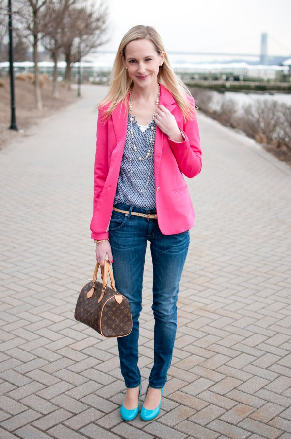 1b087d3aef How to Wear Hot Pink Blazer: 15 Eye Catching & Ladylike Outfit Ideas ...