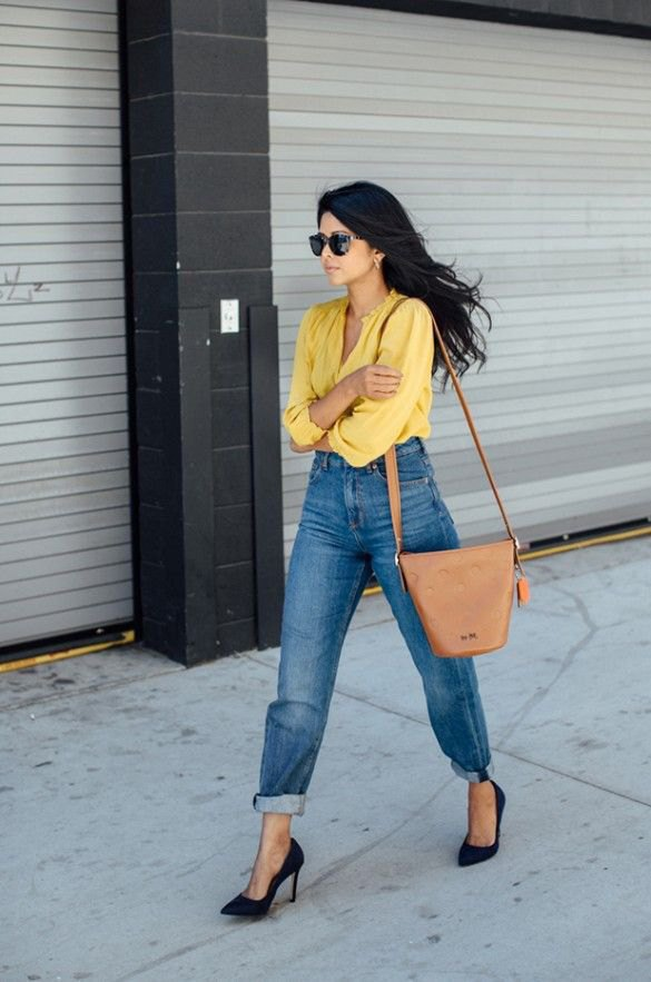 21a92c34958 How to Wear Yellow Shirt  15 Cheerful Outfit Ideas for Women - FMag.com
