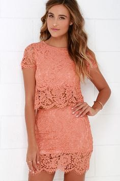 lace two piece semi sheer mini bodycon dress