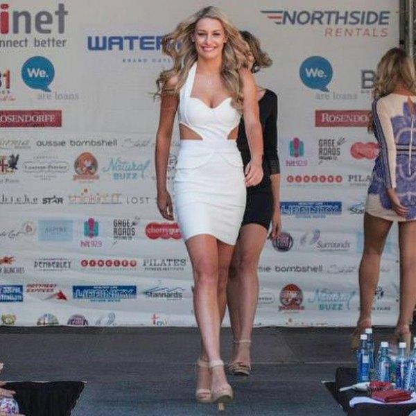 white cutout side mini bandage dress with open toe heels