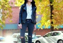 best biker jeans outfit ideas for women