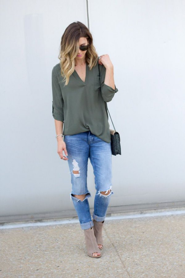 26faabf6fc9e Top 13 Green Shirt Outfit Ideas: Style Guide for Ladies - FMag.com