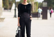 best black blouse outfit ideas for ladies