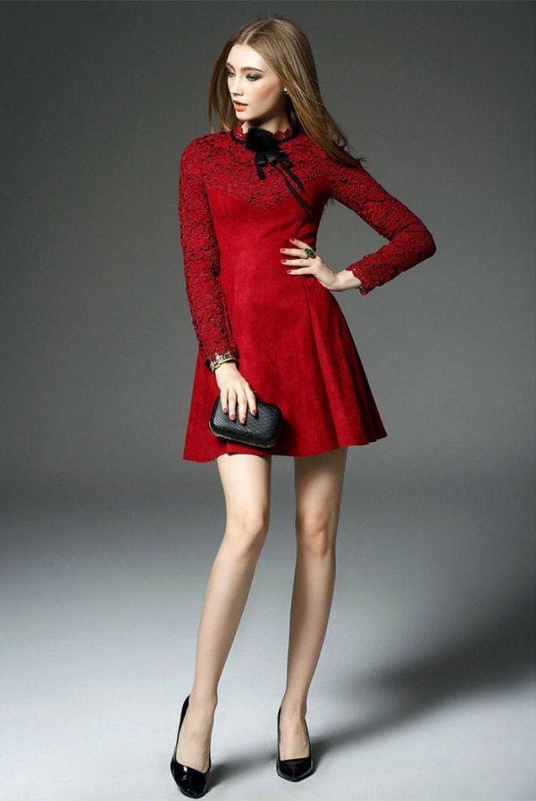 Best 13 Red Long Sleeve Dress Outfit Ideas Style Guide Fmag