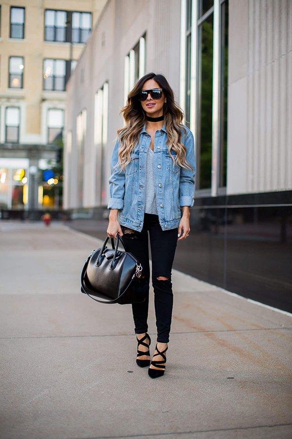 404df6e6fa2 How to Wear Boyfriend Denim Jacket: Top 13 Outfit Ideas for Ladies ...