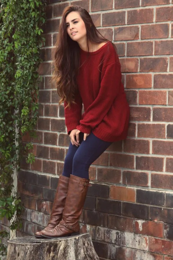 How To Wear Maroon Sweater Best 15 Cozy Deep Outfits For Ladies