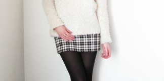 best plaid wool skirt outfit ideas for ladies