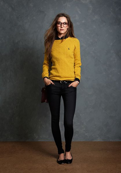 How To Wear Mustard Yellow Sweater Top 15 Cheerful Outfit Ideas For