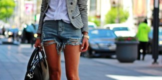 best ripped jean shorts outfit ideas for women