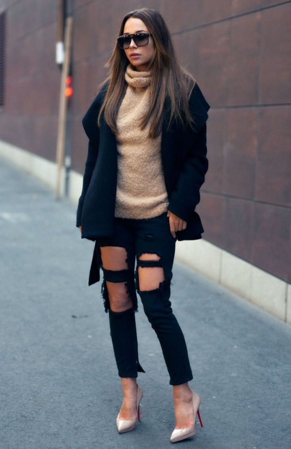 8fbb8dba3fc Best 15 Black Ripped Jeans Outfit Ideas for Women  Style Guide ...