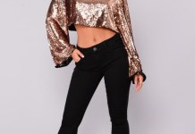 best silver sequin top outfit ideas for women
