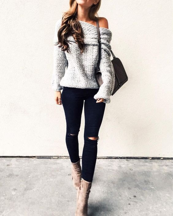 c2d768e4eb3 How to Wear Black Distressed Jeans: Best 13 Stylish Outfit Ideas for Women