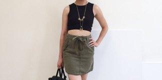 best cargo skirt outfit ideas for women