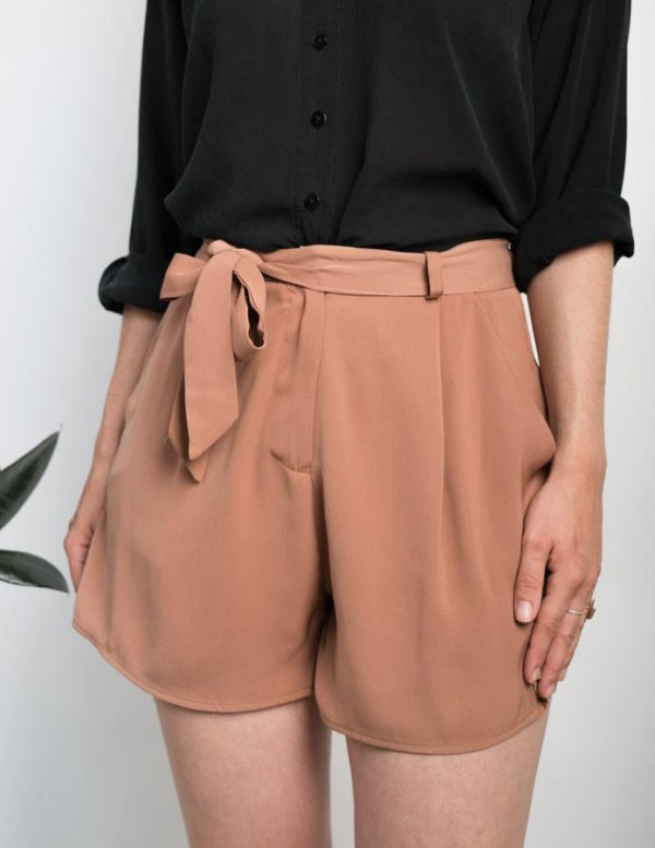 best tie shorts outfit ideas for women