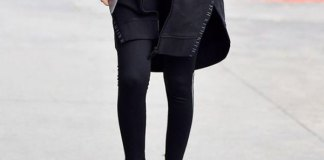 best black wedge sneakers outfit ideas for women