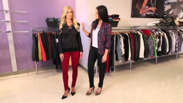 black blazer with dark red slim fit pants
