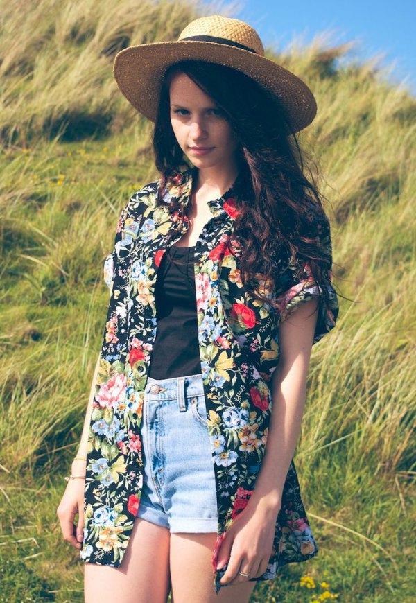 best aloha shirt outfit ideas for women
