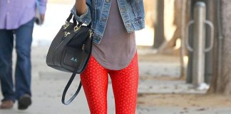best red workout leggings outfit ideas for women