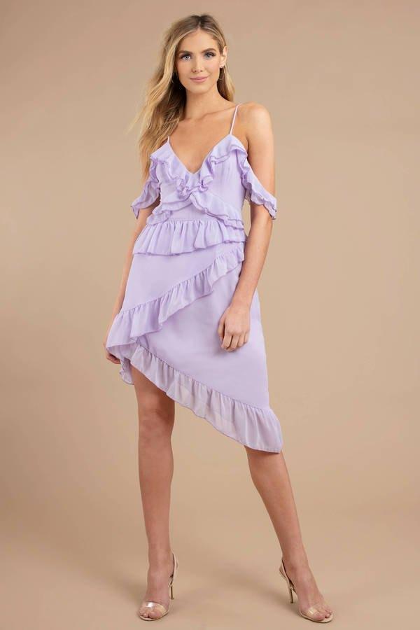 0c0e542dce55 Top 15 Purple Midi Dress Outfit Ideas for Women  Style Guide - FMag.com