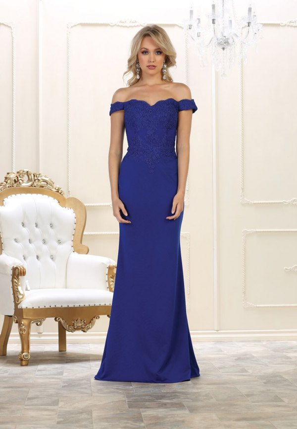 best royal blue gown outfit ideas for women