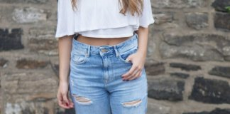 best distressed mom jeans outfit ideas for women