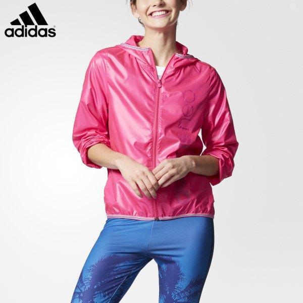 hot pink sport jacket with blue windbreaker pants