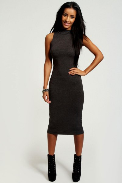 bodycon dress and booties