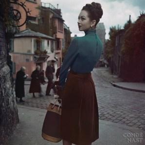 Corduroy Skirt in Parisian Street