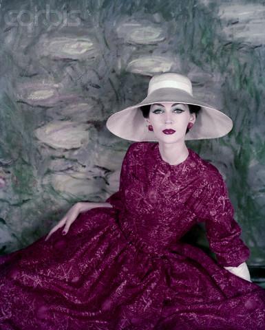 Model Wearing Silk Dress by Christian Dior