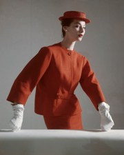 Red Balenciaga Suit. Horst. P.Horst