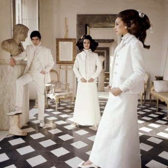 Valentino Long White Eveening Suits. Henry Clarke