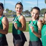 Gran actuación de las patinadoras del club Juventud Deportiva